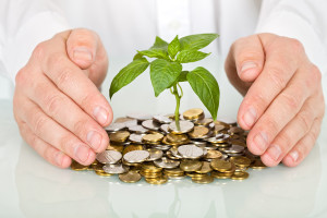 Protecting a good investment and making money concept